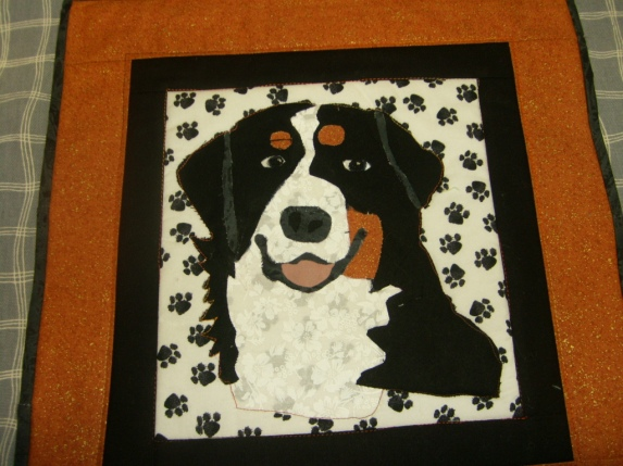 Bernese Mountain Dog wallhanging for my boss April