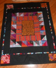 Guatemalan fabrics Quilt