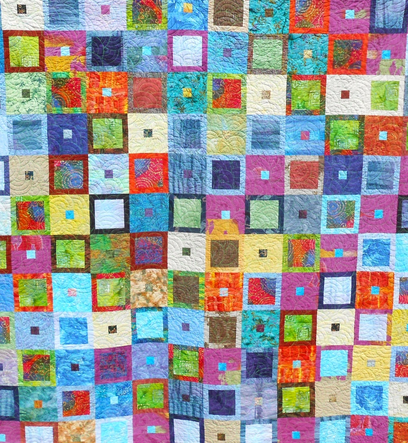 In and Out, pieced by Tierney Davis Hogan, quilted by Betty Anne Guadalupe