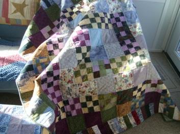Flannel scrap quilt