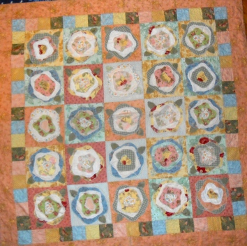 French Roses quilt - a rag style quilt