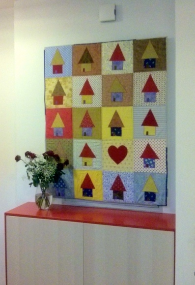 Quilt in the hallway