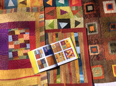 Random not so Random, Flying Triangles, Silk Landscape and Color Changes - images from these quilts (#0246 - #0249) are featured in the book 1000 Quilt Inspirations