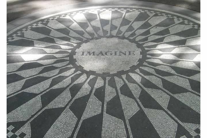 Strawberry Fields - Central Park's Memorial to John Lennon, taken 2008 during my trip to NYC.