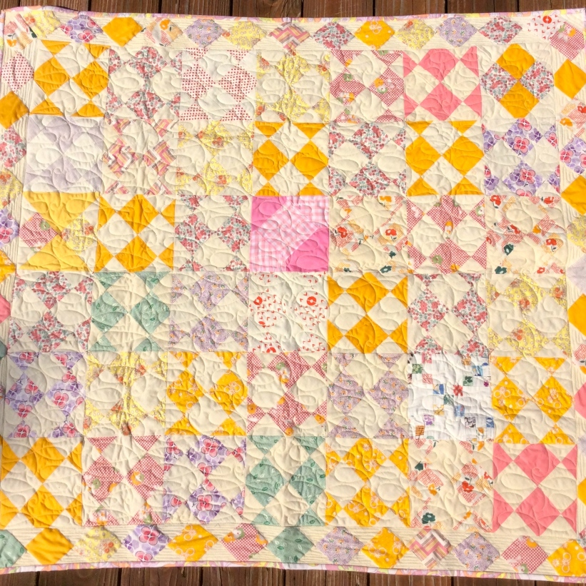 1930's Block Quilt - pieced by Tierney Davis Hogan, quilted by Betty Anne Guadalupe