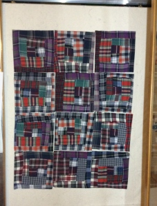 First set of shirt flannel log jam blocks by Terry, the Quilting Husband