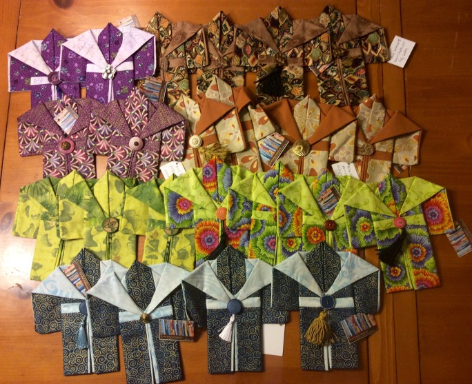 23 new miniature kimonos ready for the shop