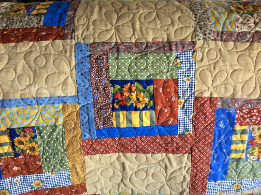 Sunflower Jam (2015) - designed and pieced by Tierney Davis Hogan, quilted by Betty Anne Guadalupe