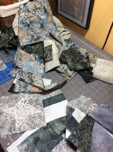 How could I turn these beautiful batik fabric scraps down?