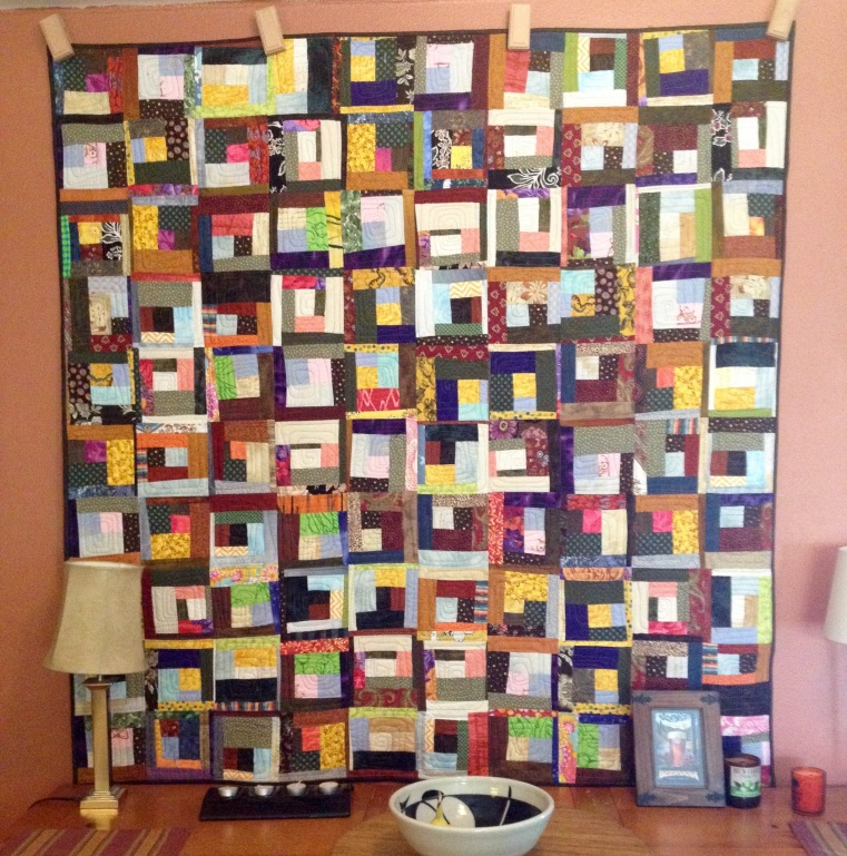 Log Jam by Terry (2015). Quilted by Betty Anne Guadalupe.