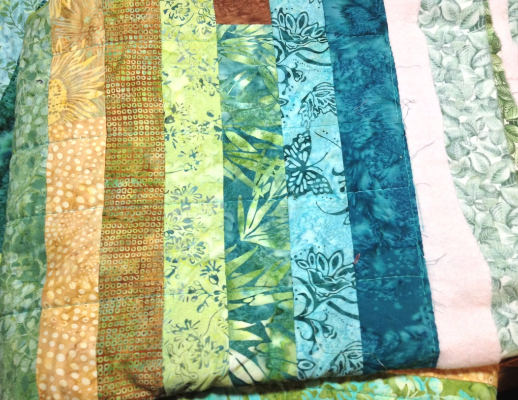 The Basted Quilt...