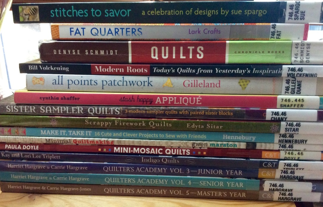 Image result for stack of quilting books