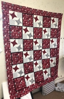 School colors quilt for a grandchild